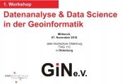 Workshop: Datenanalyse und Data Science in der Geoinformatik